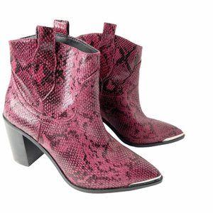 NEW Steve Madden Zora Snake Embossed Boots